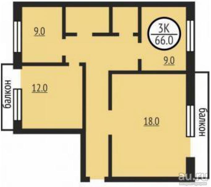 Купить 1комнатную квартиру в районе Железнодорожный