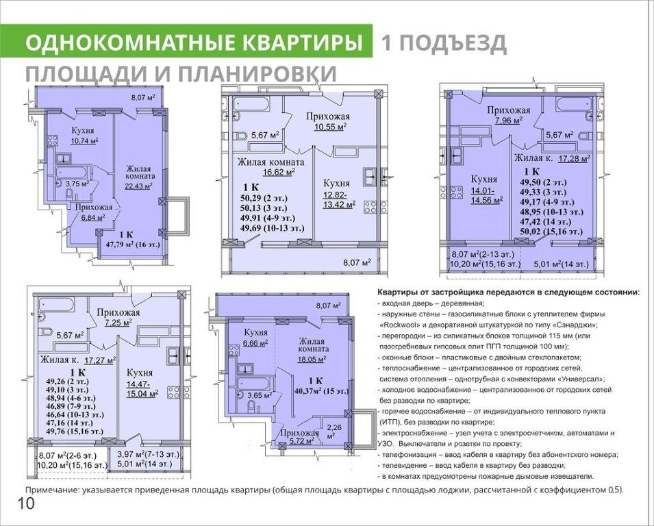 Продажа однокомнатной квартиры 46.89 м? на ошарской улице, (.