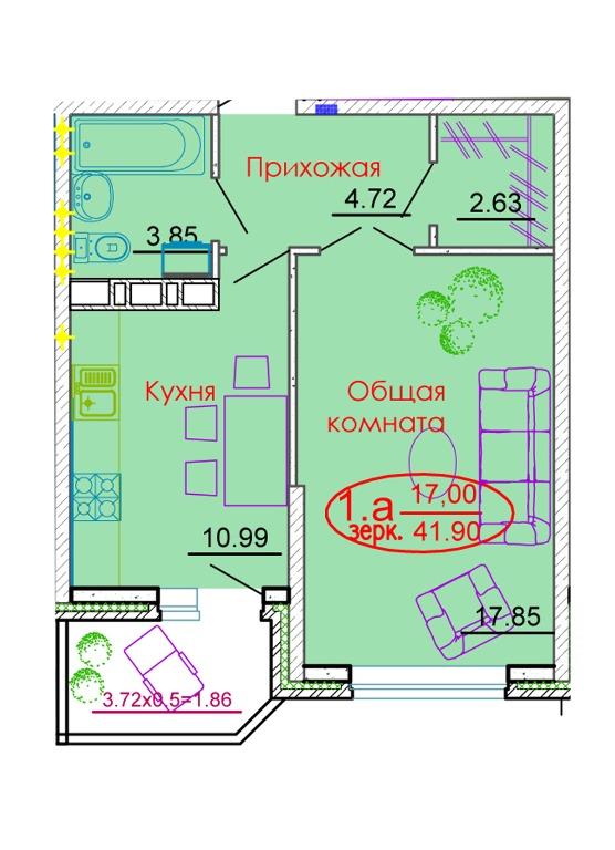 Каскад планировка квартир
