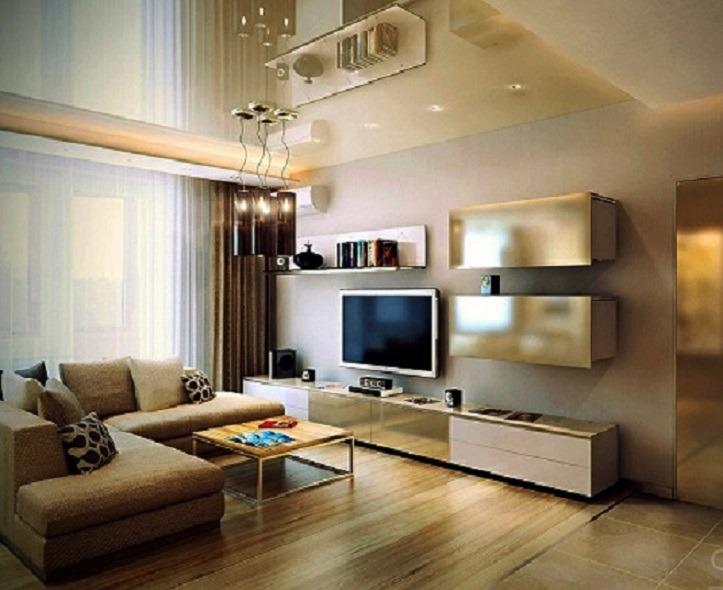 дизайн интерьера однокомнатной квартиры в современном стиле фото